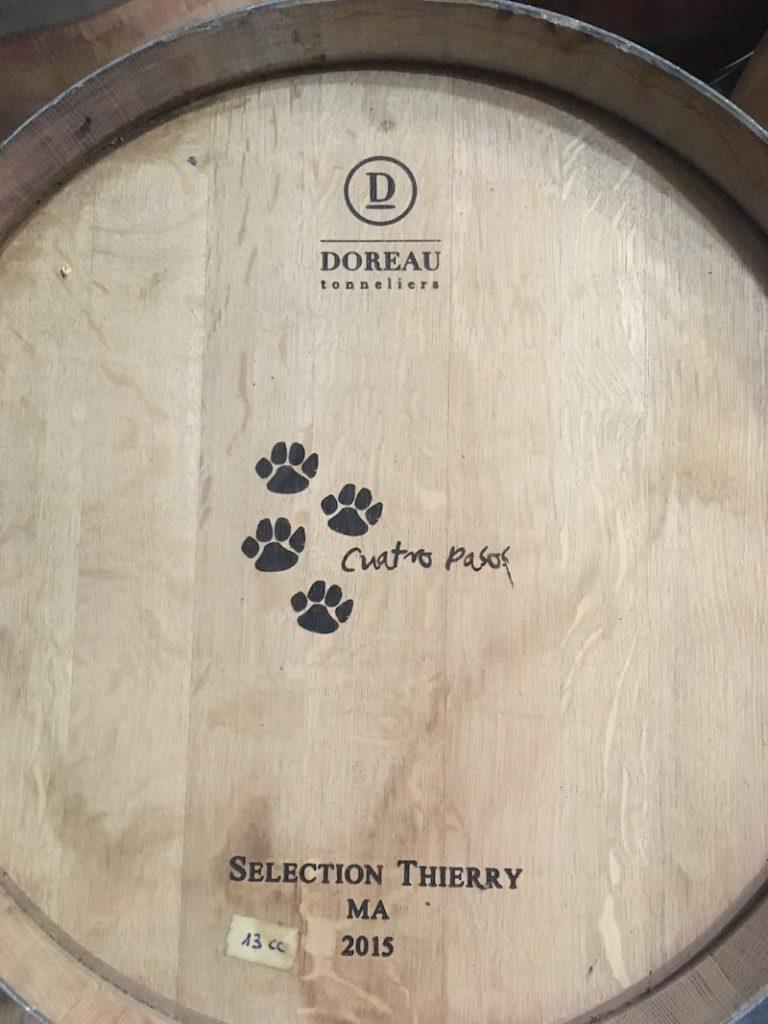 wine barrels at Cuatro Pasos