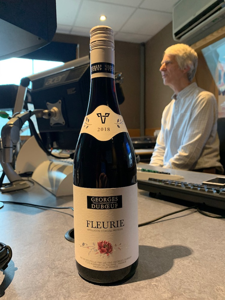 George Duboeuf Fleurie at WCR FM with Dave King